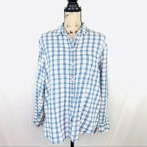 Madewell Oversized Boyshirt Benton Plaid Flannel S